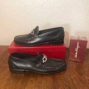 Salvatore Ferragamo Men's Silp-On Loafer Shoes Hor